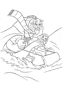Coloring page the beauty and the beast to color for children
