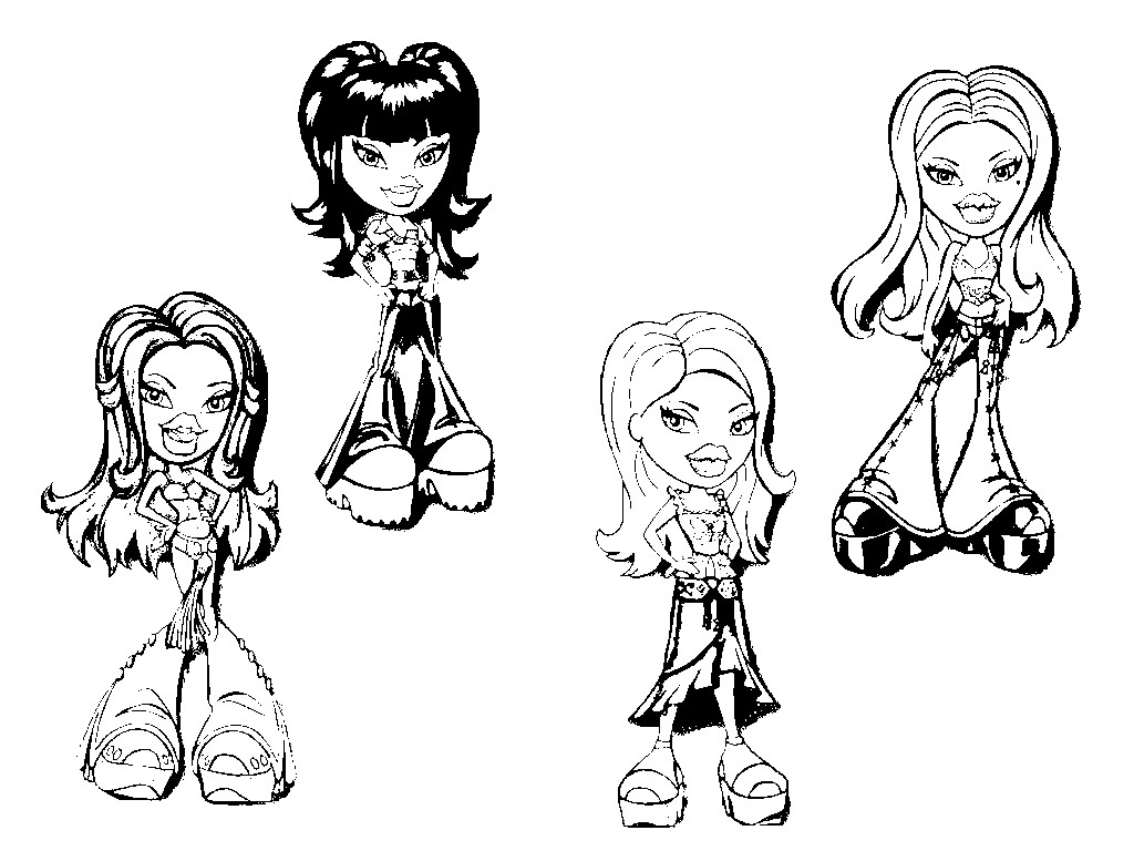 The Holiday Site: Coloring Pages of Bratz Dolls Free and Downloadable | 768x1024