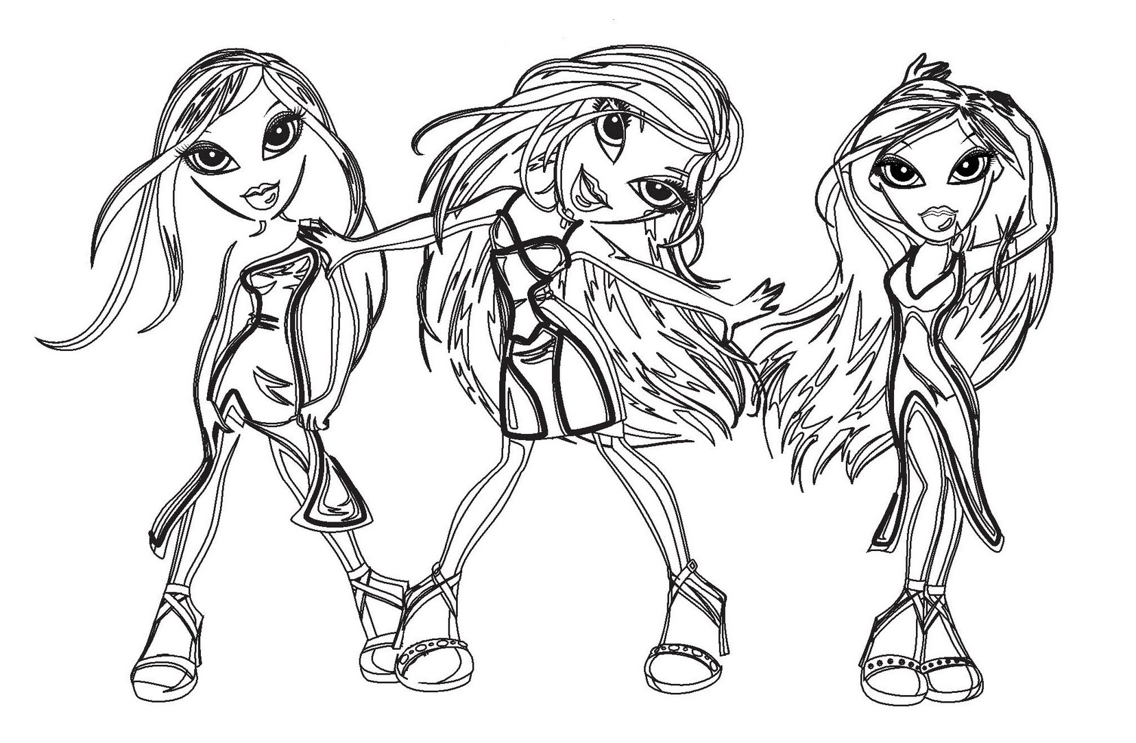 Free The Bratz coloring page to download, for children