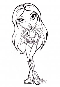 Coloring page the bratz free to color for children