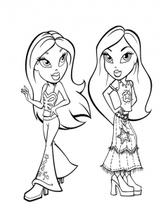 Coloring page the bratz to print for free