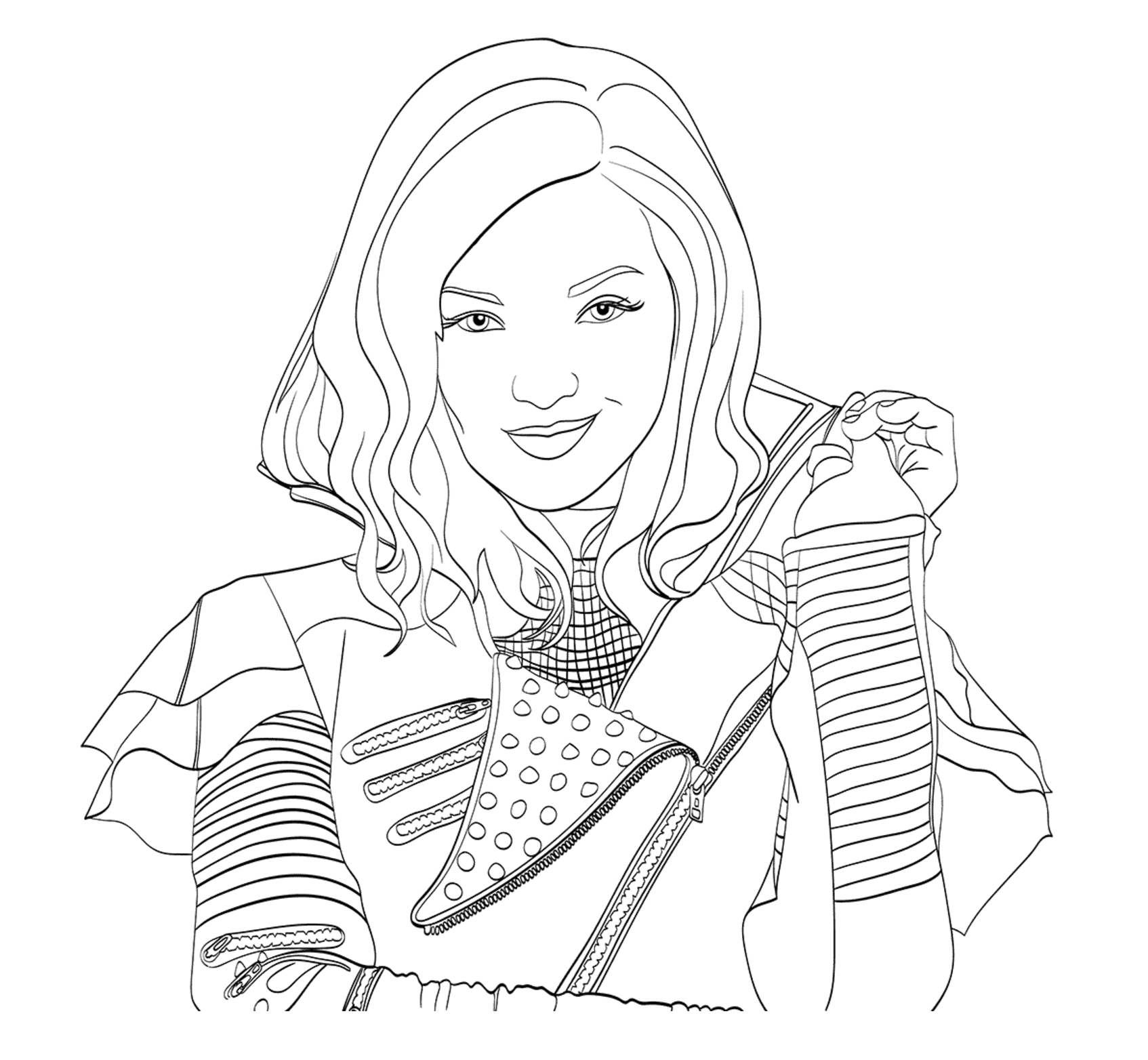Free The Descendants coloring page to print and color