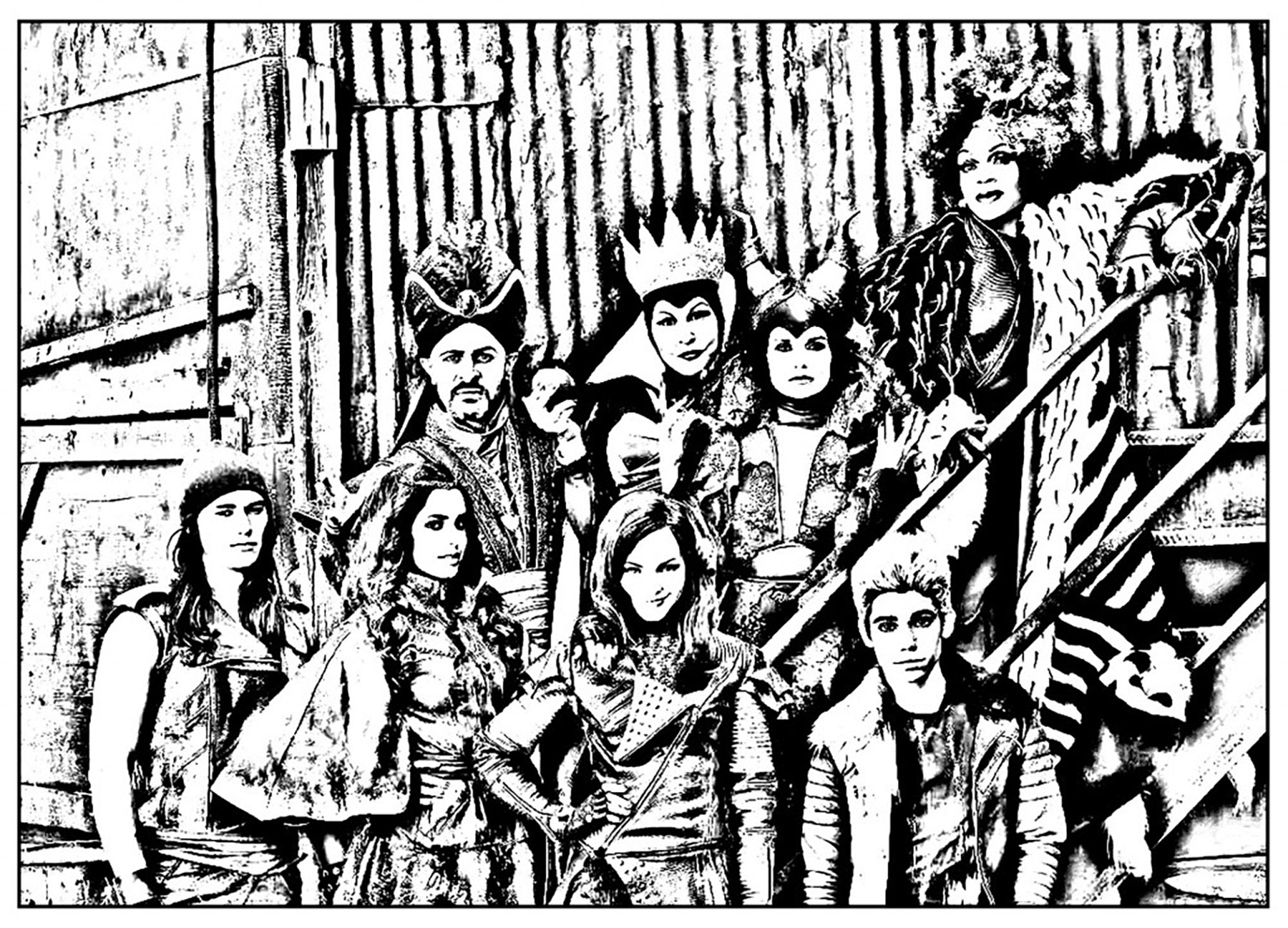 The Descendants coloring page to download