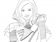 The Descendants Coloring Pages for Kids