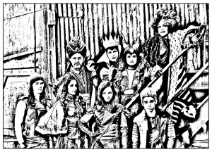 Coloring page the descendants for children
