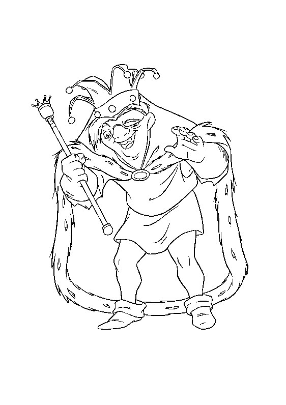 Funny The Hunchback Of Notre Dame coloring page for kids