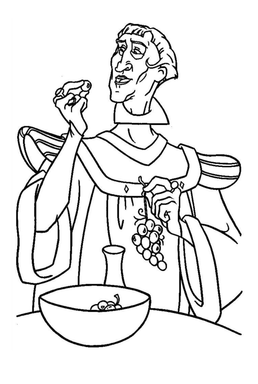 Cute free The Hunchback Of Notre Dame coloring page to download