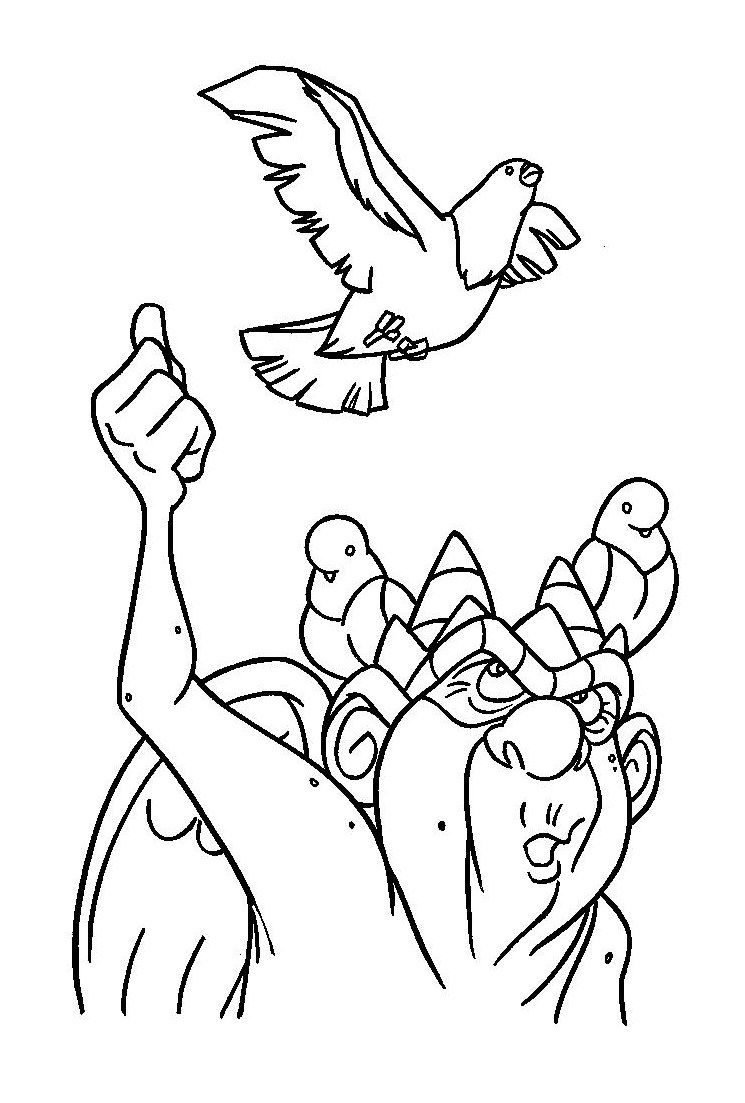 Free The Hunchback Of Notre Dame coloring page to print and color, for kids