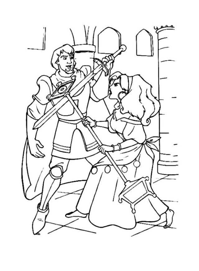 Incredible The Hunchback Of Notre Dame coloring page to print and color for free