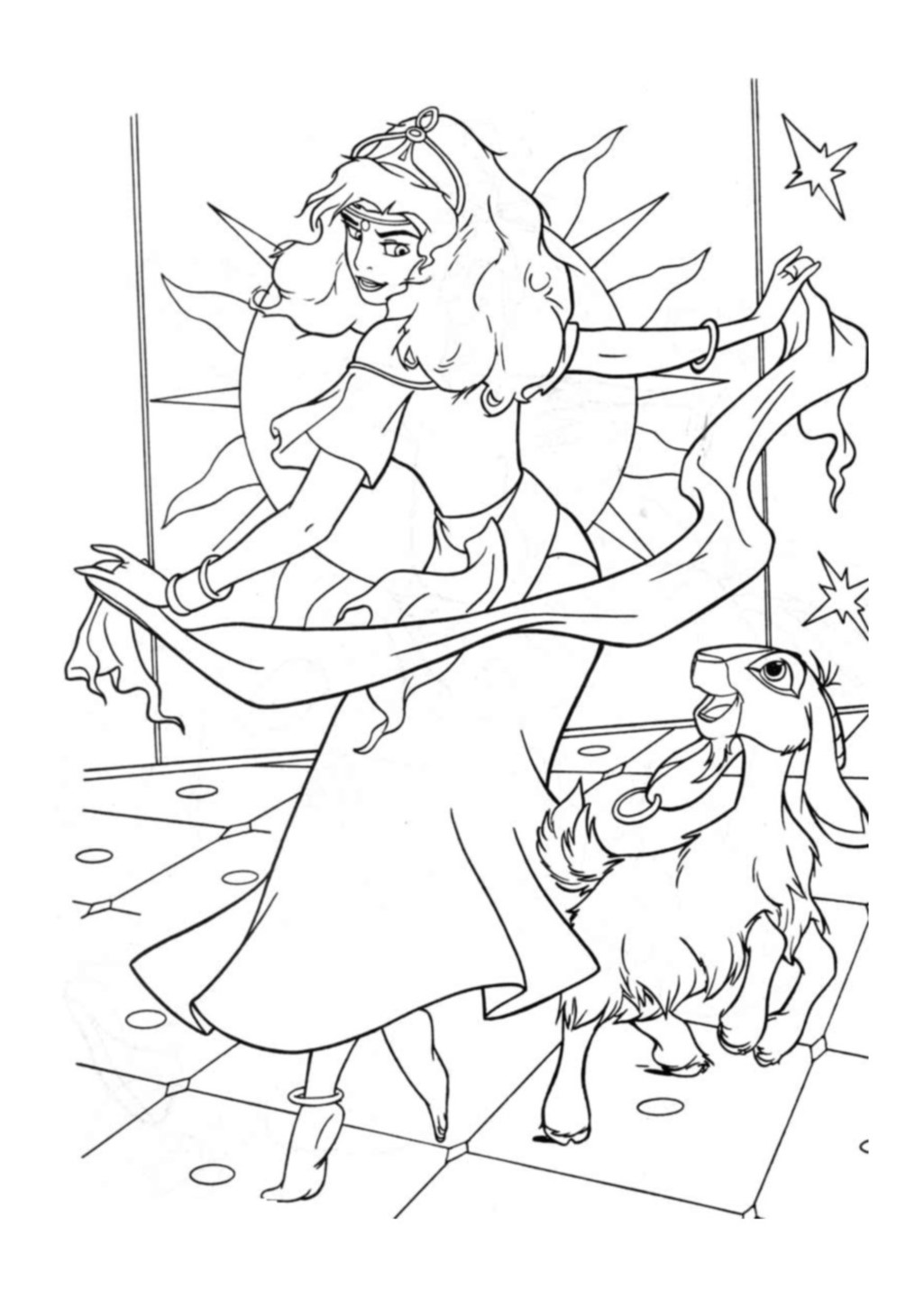 Funny The Hunchback Of Notre Dame coloring page for children