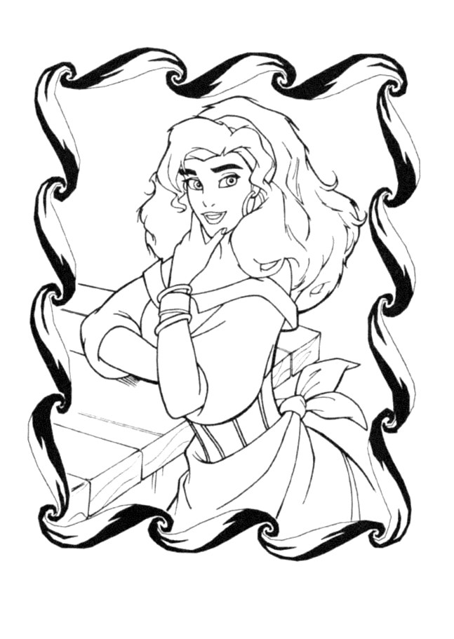 The Hunchback Of Notre Dame coloring page to download