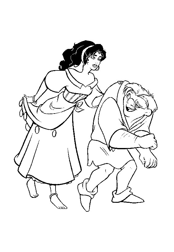 Printable The Hunchback Of Notre Dame coloring page to print and color for free