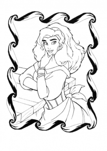 Coloring page the hunchback of notre dame to print for free