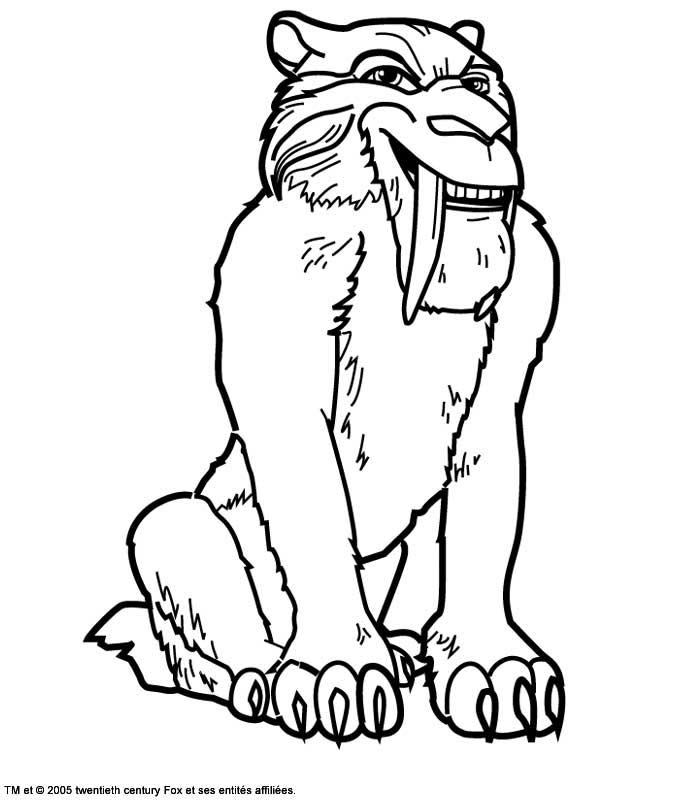 The ice age to print for free - The Ice Age Kids Coloring Pages