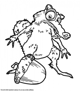 Coloring page the ice age free to color for children