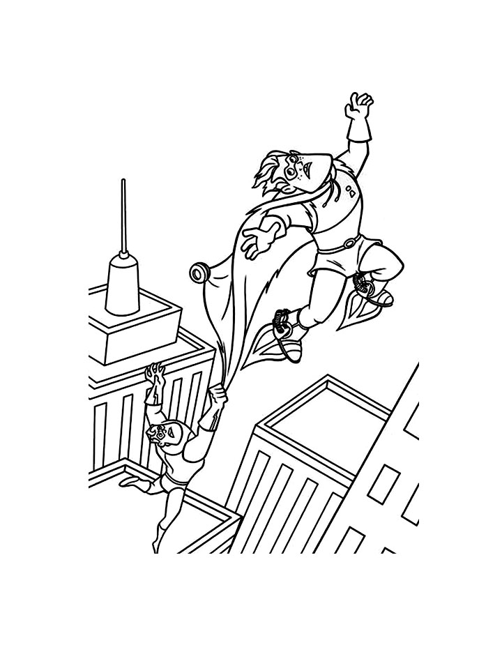 Beautiful The Incredibles coloring page