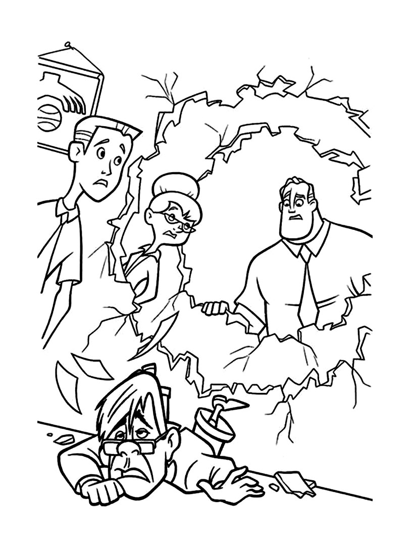 The Incredibles coloring page to download for free