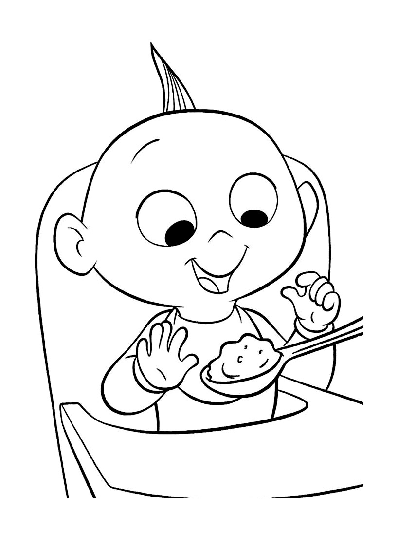 The Incredibles coloring page to print and color for free