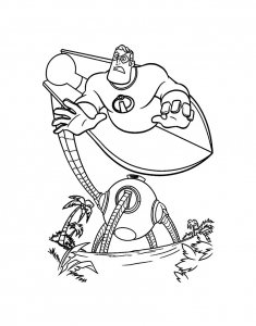 Coloring page the incredibles to download