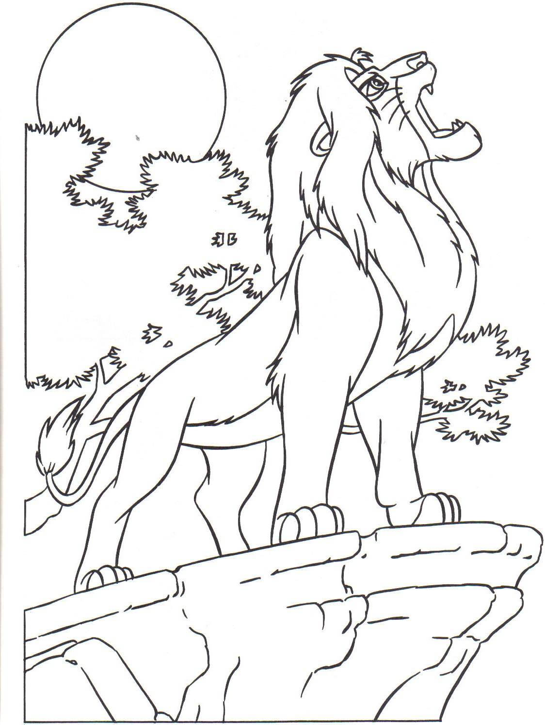Funny The Lion King coloring page with the King Mufasa