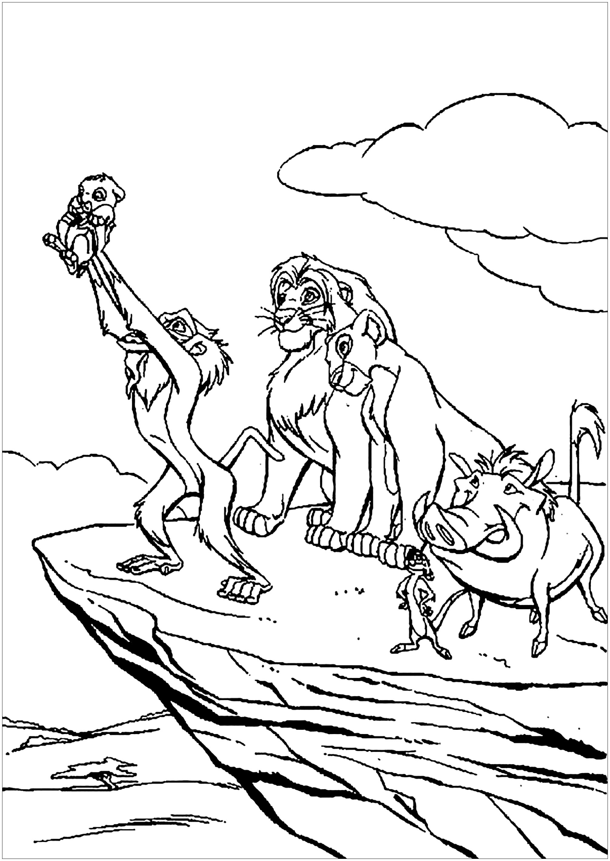 The lion king to print - The Lion King Kids Coloring Pages