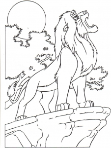 Coloring page the lion king to print
