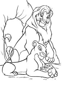 Mufasa, Nala and their son Simba