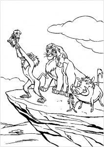 Rafiki baptizes Simba