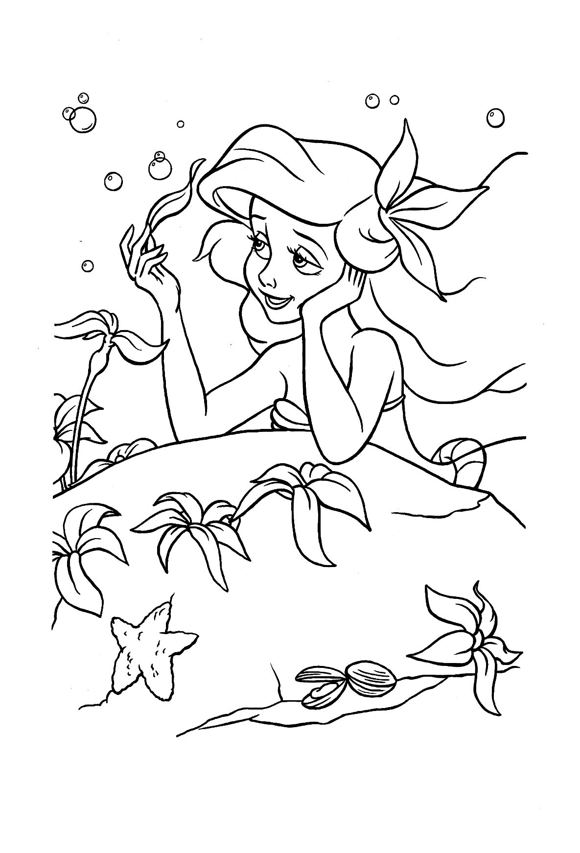 little mermaid coloring pages - HD 806×1200