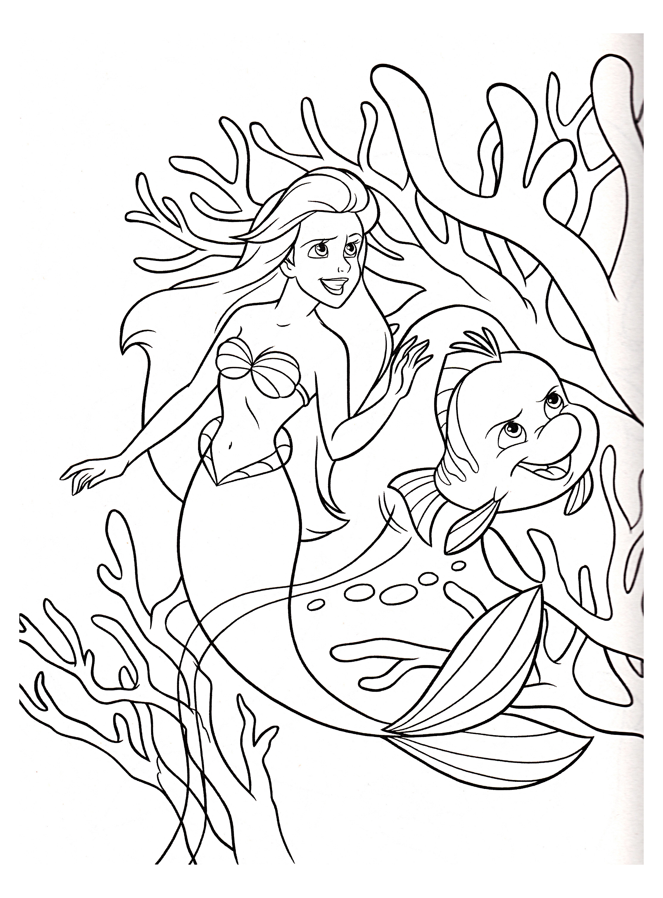 The little mermaid to color for children - The Little Mermaid Kids ...