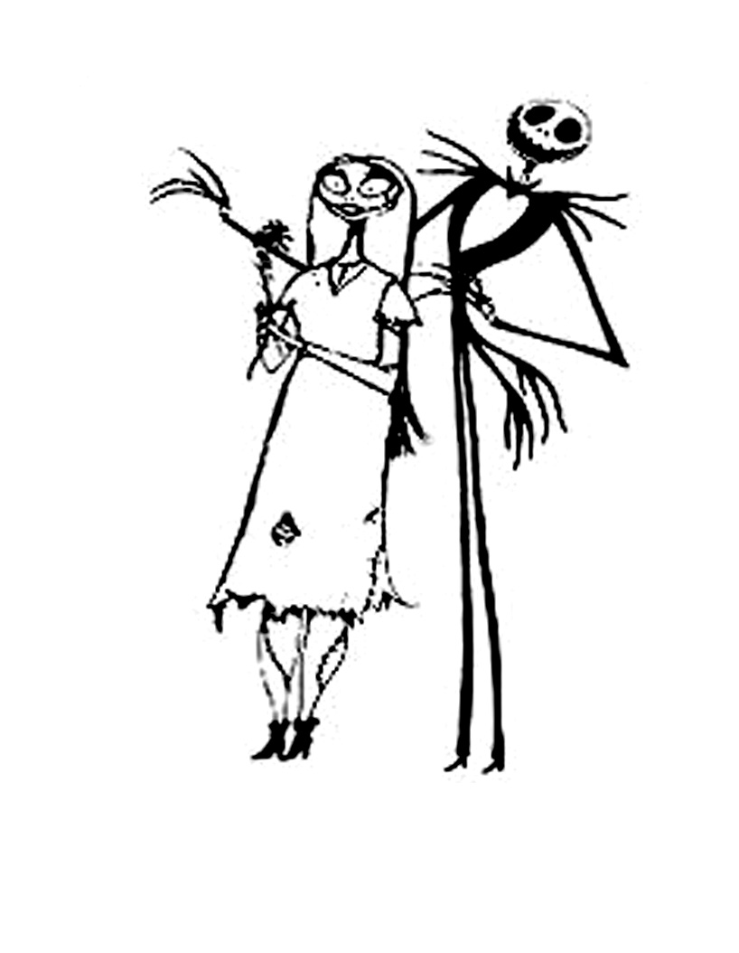 Cute free The Nightmare Before Christmas coloring page to download