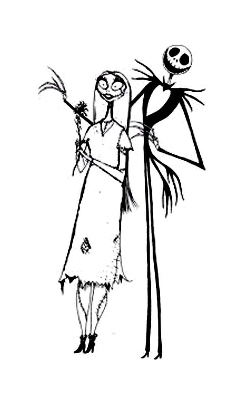 Simple The Nightmare Before Christmas coloring page