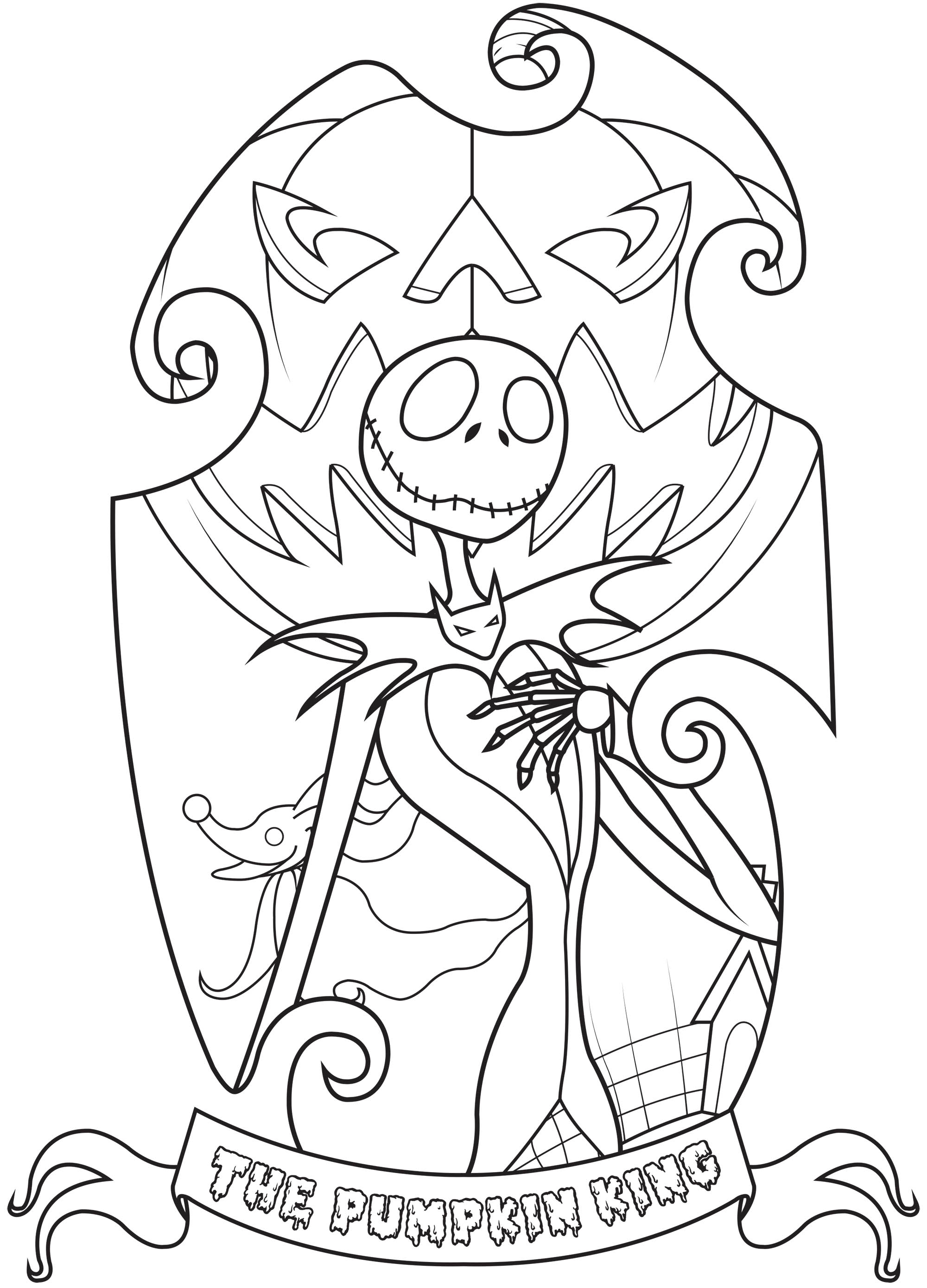 Jack Skellington The Nightmare Before Christmas Kids Coloring Pages