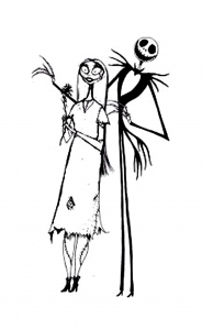 Coloring page the nightmare before christmas free to color for children