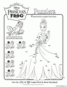Coloring page the princess and the frog to print