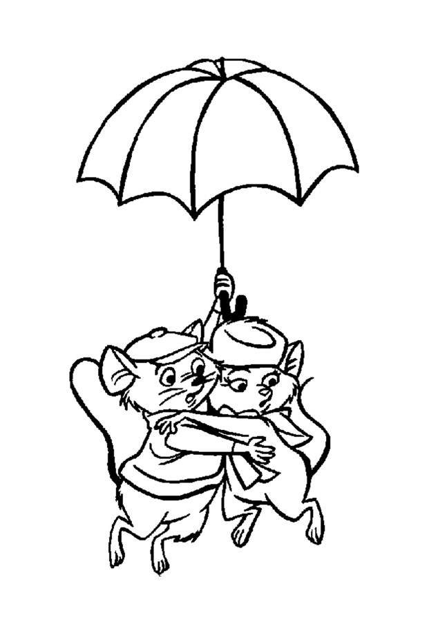 free the rescuers coloring page to download for children