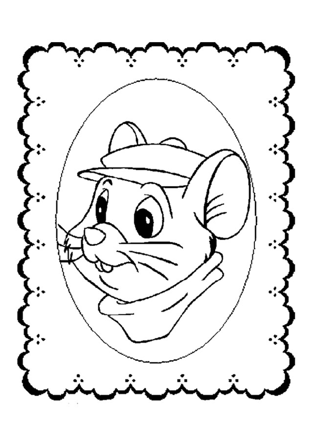 Funny free The Rescuers coloring page to print and color