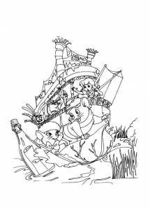 Coloring page the rescuers for kids