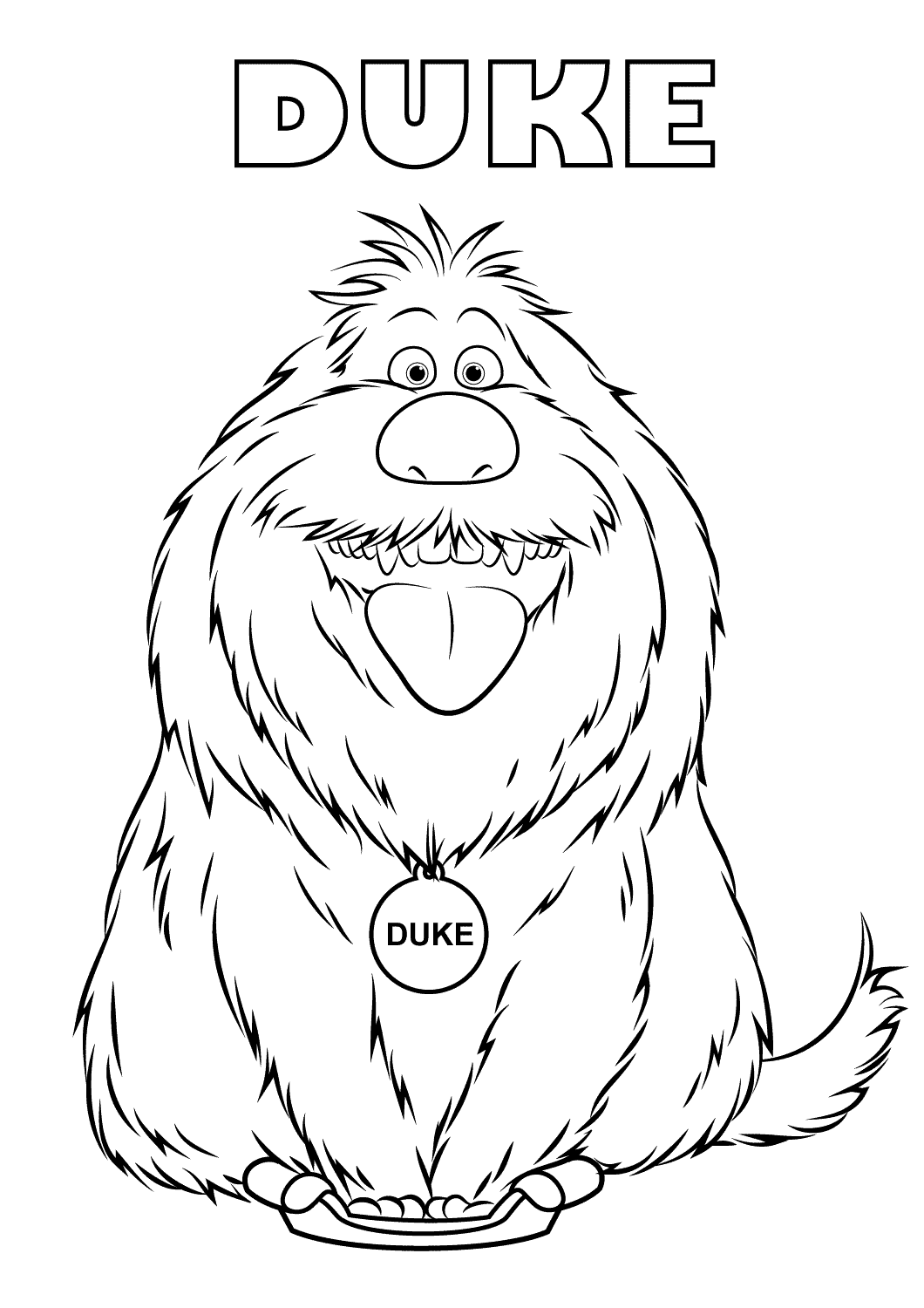 The Secret Life of Pets coloring page to download for free