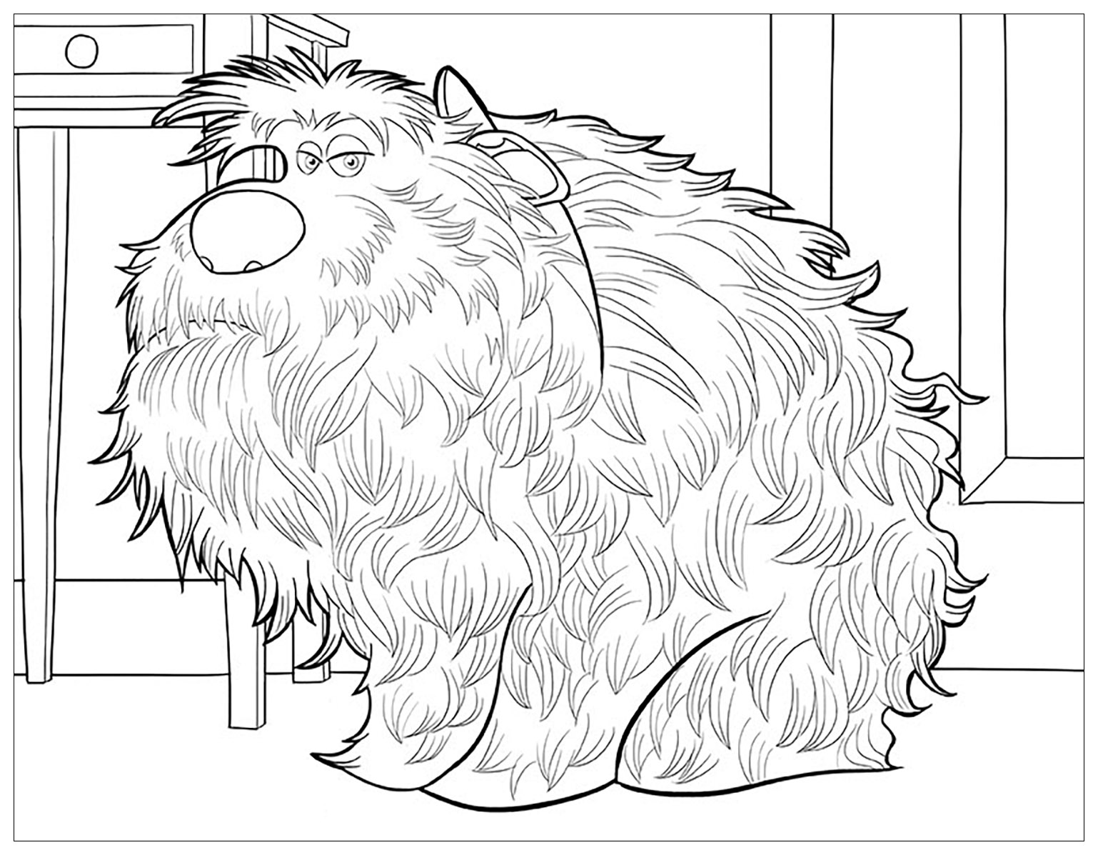 Incredible The Secret Life of Pets coloring page to print and color for free