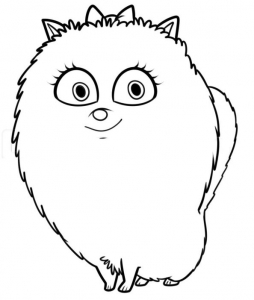 Coloring page the secret life of pets for children