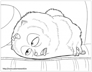 Coloring page the secret life of pets to color for children