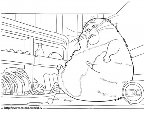 Coloring page the secret life of pets to download for free