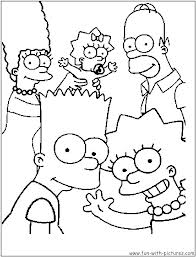 Incredible The Simpsons coloring page to print and color for free