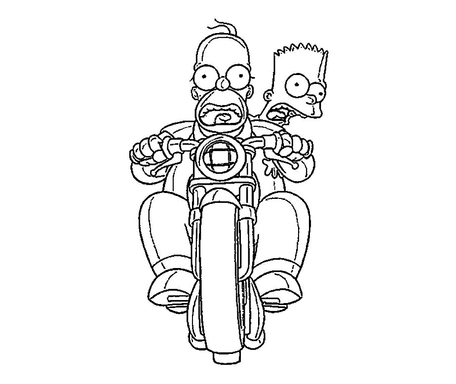 Free The Simpsons coloring page to print and color
