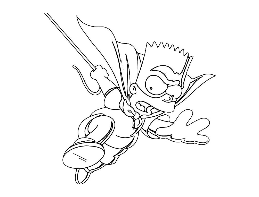 Printable The Simpsons coloring page to print and color