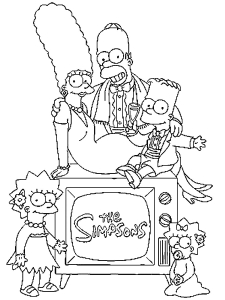 Coloring page the simpsons to download for free