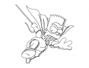 Coloring page the simpsons to print for free