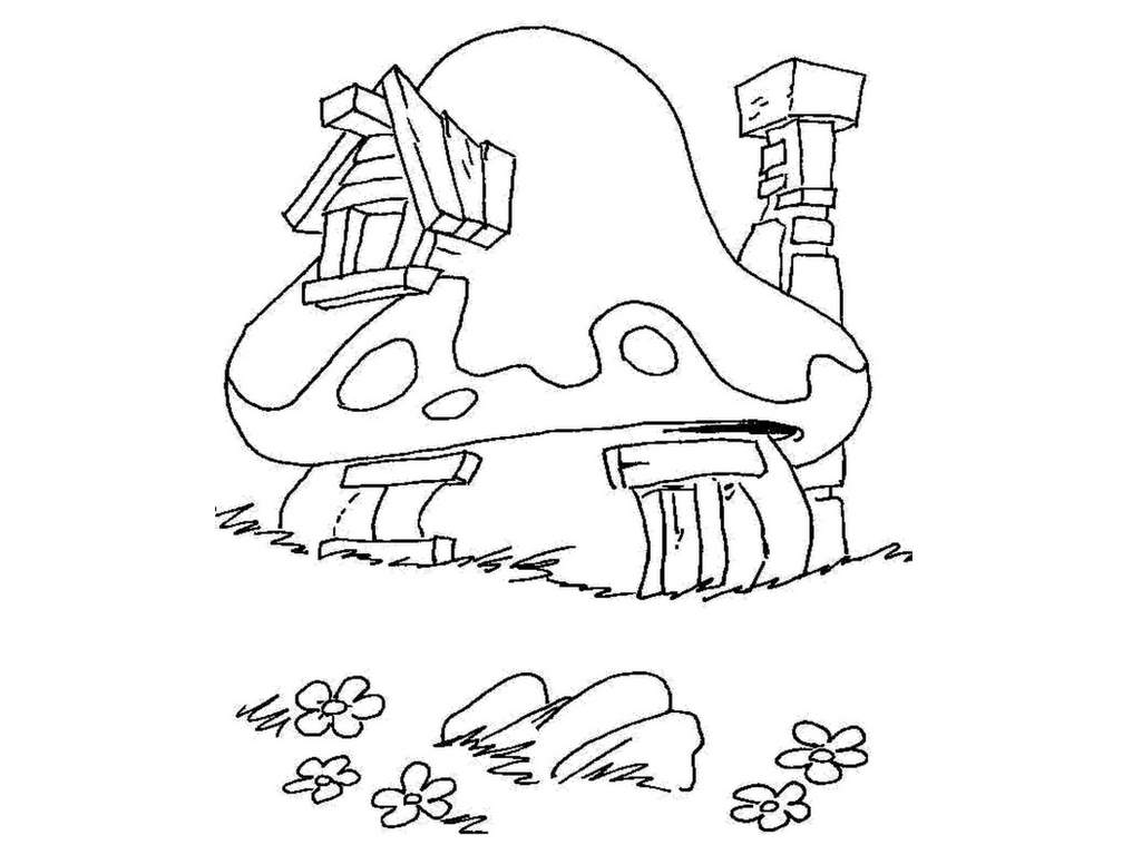 Printable The Smurfs coloring page to print and color