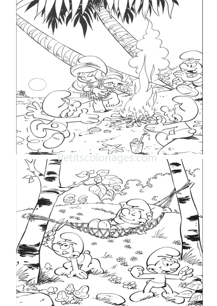 Funny The Smurfs coloring page